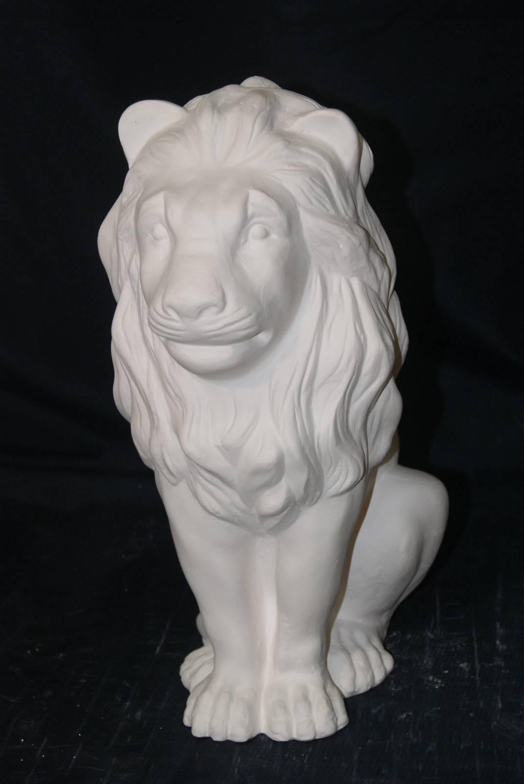 Скульптура льва из гипса своими руками